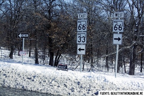 Route 66 in winter