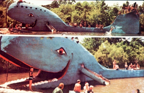 For Features, Heather Warlick. Postcard of the Blue Whale at Nature's Acres, Catoosa. Photo Provided ORG XMIT: KOD